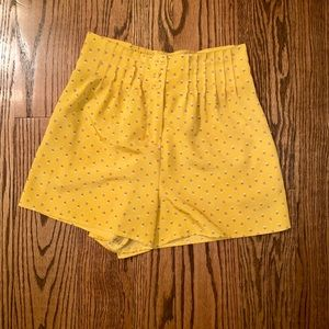 Anthropologie High waisted Pleated shorts